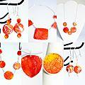 Pour célébrer le printemps, la collection de bijoux oranges aux reflets