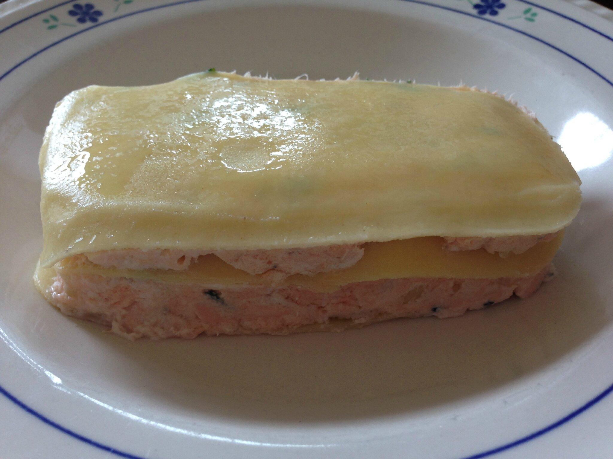 Lasagne froide au saumon