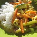 Curry de crevettes et calamars au lait de coco