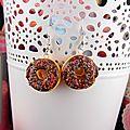 Craquez... boucles d'oreilles donuts croqués