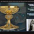 Reims: le calice du sacre des rois de france de saint remi