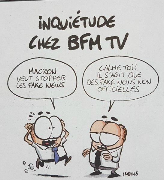 macron humour bfm tv fake news