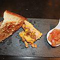 Terrine de foie gras maison au pain d'épices.