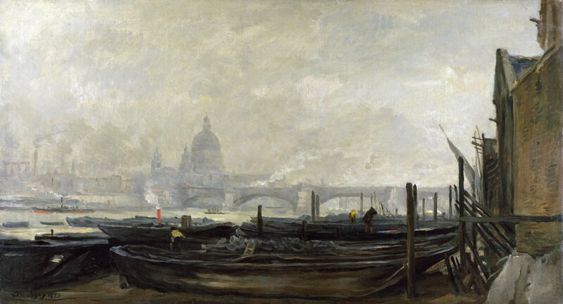 IMG_8898 charles francois daubigny la cathedrale st paul vue depuis la rive sud - 1871-1873 National Gallery of London