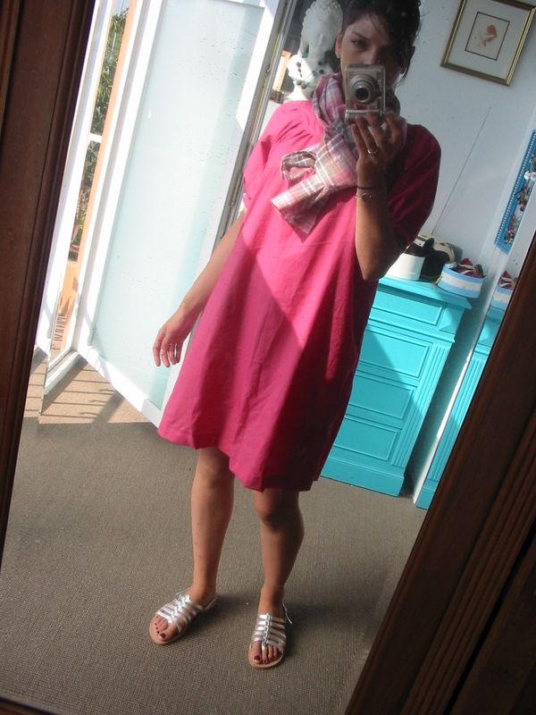 robe japonaise en voile de coton framboise from toto