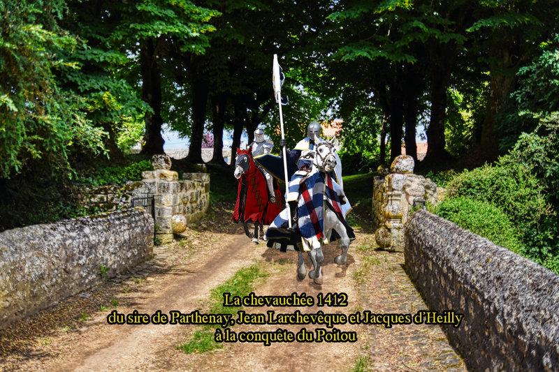 La chevauchée 1412 du sire de Parthenay, Jean Larchevêque et Jacques d'Heilly à la conquête du Poitou