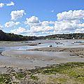 Rivière de Morlaix par marée basse au Dourduff