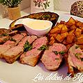 Gigot d'agneau grillé à la crème d'ail et ses accompagnements