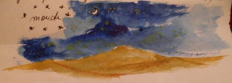 lune dans le désert