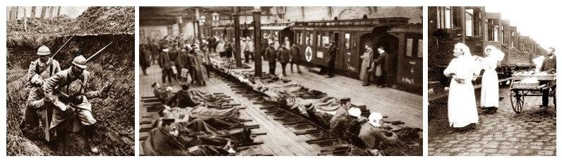 évacuation des bléssés guerre 14 18