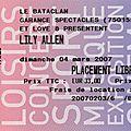 Lily allen - dimanche 4 mars 2007 - bataclan (paris)