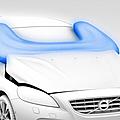 Volvo développe un airbag-piétons