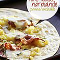 Tarte flambée normande pomme/andouille