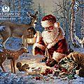 pere-noel,-animaux,-foret,-cadeaux-149548