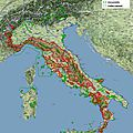 Estimation de la population de loups en italie - 2014 -