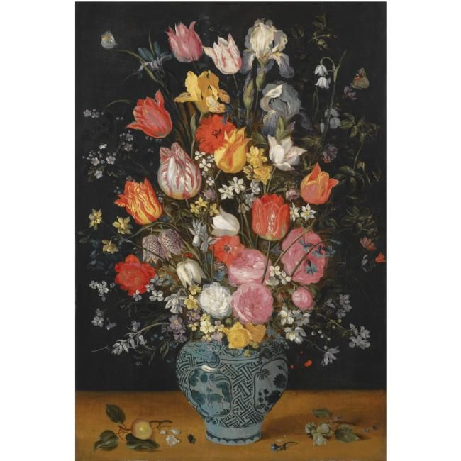 Jan Breughel The Younger Antwerp 1601 1678 Still Life With Tulips Roses Lilies Irises
