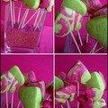 Sucettes rigolotes aux sablés bicolores