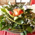 Bouquet d'avril et couronne de pâques