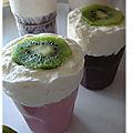 Mousses glacees au kiwi