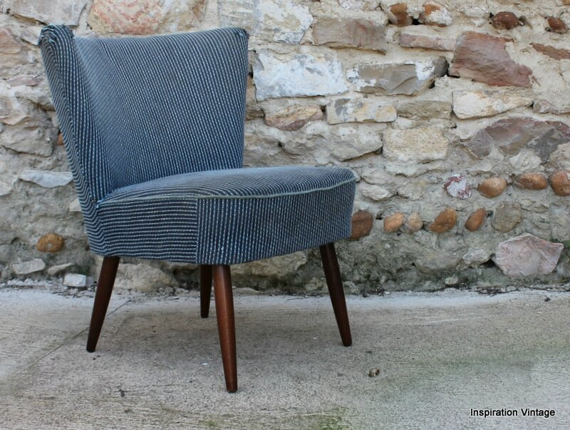 fauteuil cocktail 50 39 s bleu restaurer inspiration vintage. Black Bedroom Furniture Sets. Home Design Ideas