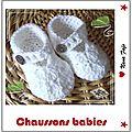 chaussons bébé crochet babies tuto