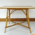 Petit mobilier ... table en rotin * theodore