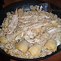 Filets de soles, risottto artichauds à la romaine