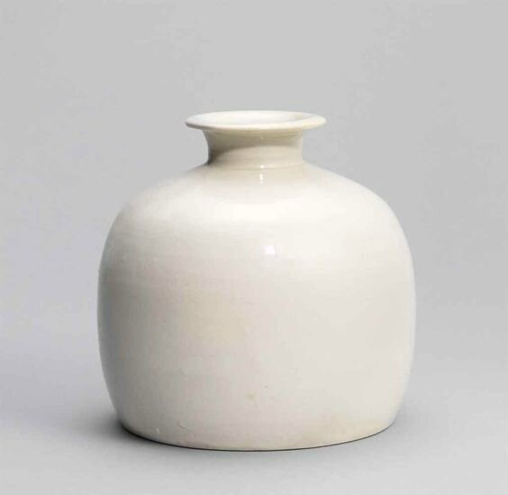 A white-glazed truncated meiping, Northern Song dynasty (960-1127)
