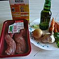 Lapin à la bière blonde /królik w piwie