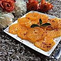 Oranges à l'eau de fleur d'oranger et cannelle
