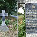 La croix de la belle entreprise, sur la route de la virée de galerne