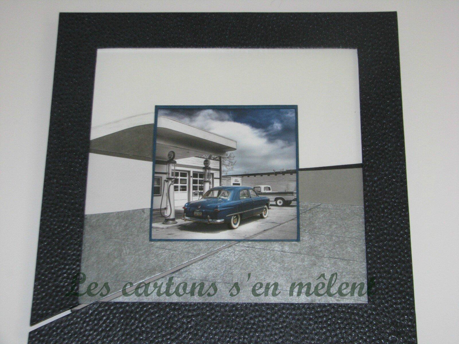 voiture US bleu