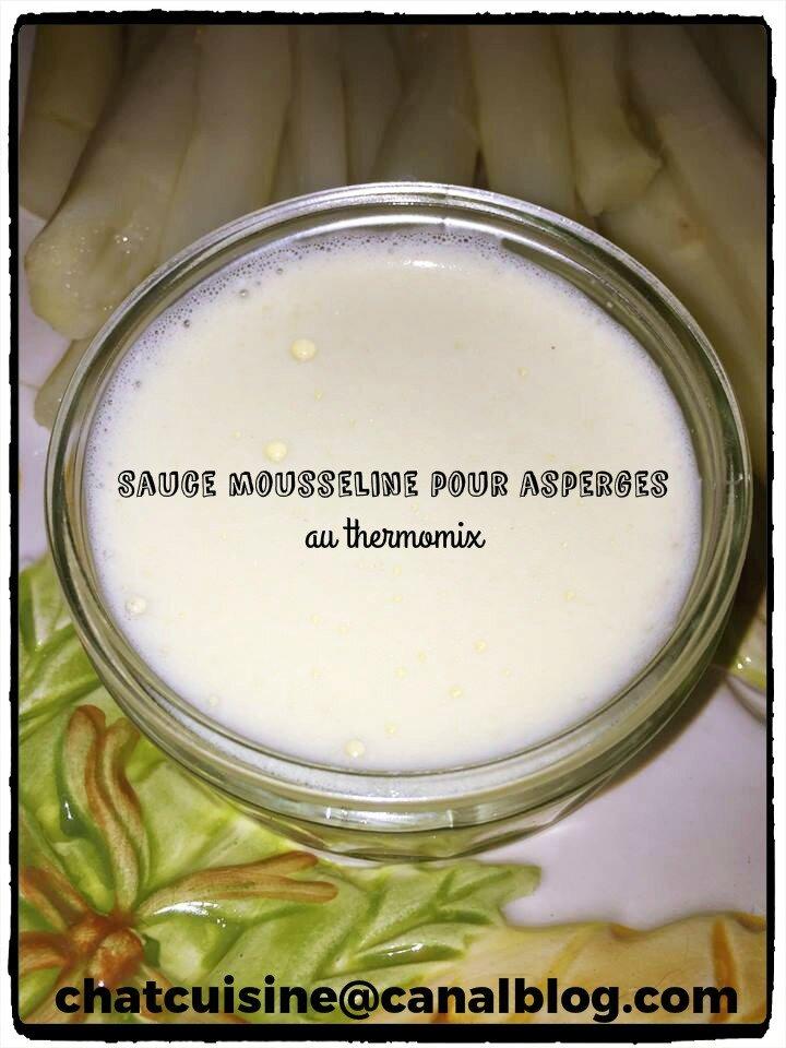 sauce mousseline pour asperges au thermomix