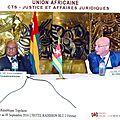 Deuxième réunion ordinaire du comité technique spécialisé de l'union africaine sur la justice et les affaires juridiques a lomé