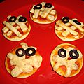 Mini-pizzas momies (halloween)