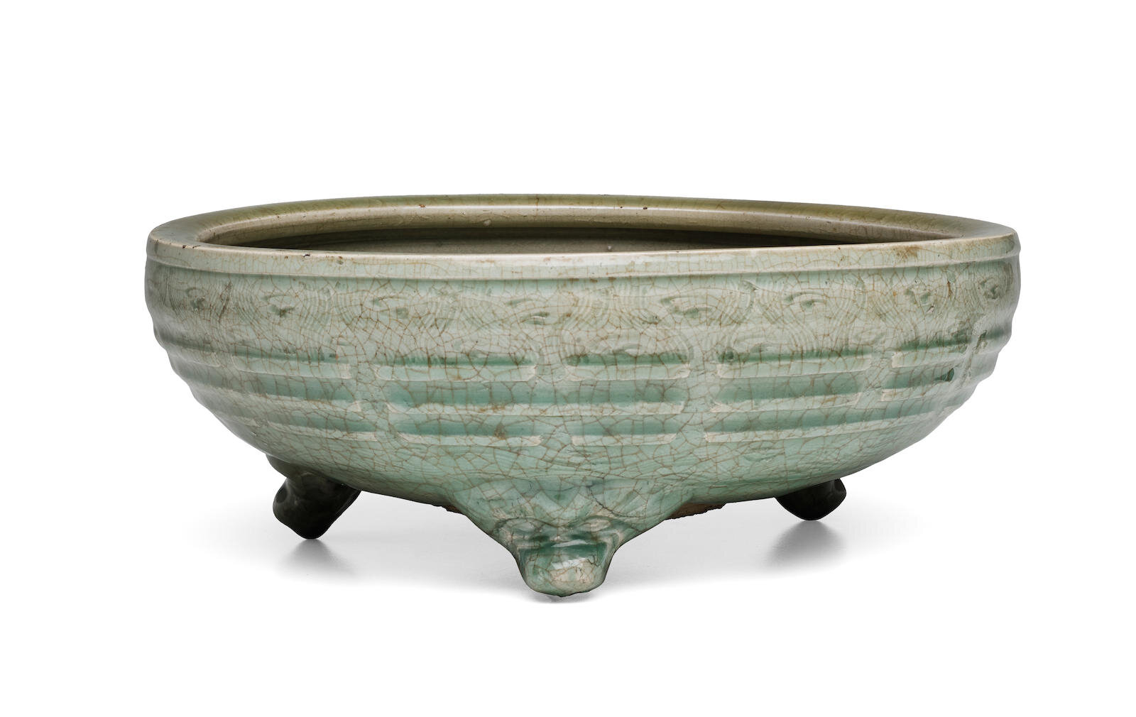 A Longquan celadon 'Eight trigrams' tripod censer, Late Yuan-Early Ming dynasty