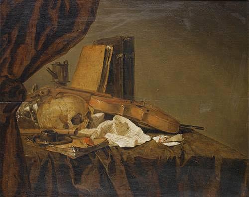 Jacques Grief de Claeuw (Dordrecht 1620-circa 1676 ?). A Vanitas