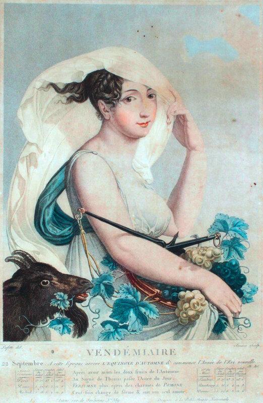 Vendemiaire (auteur inconnu, Domaine public français, bibliothèque nationale & Bureau des Longitudes)