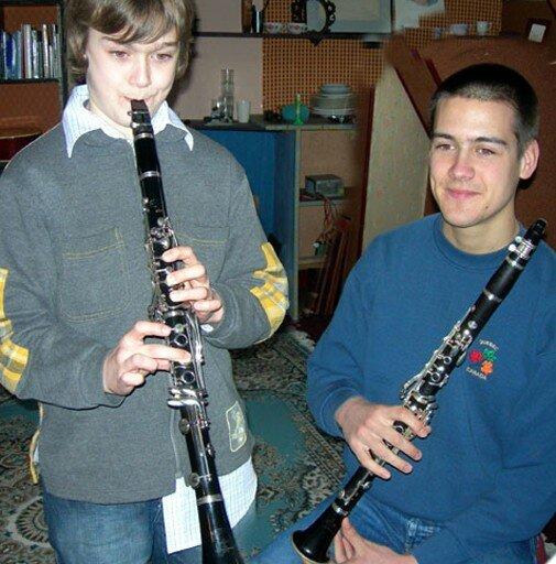 aurel et fabien, clarinettes