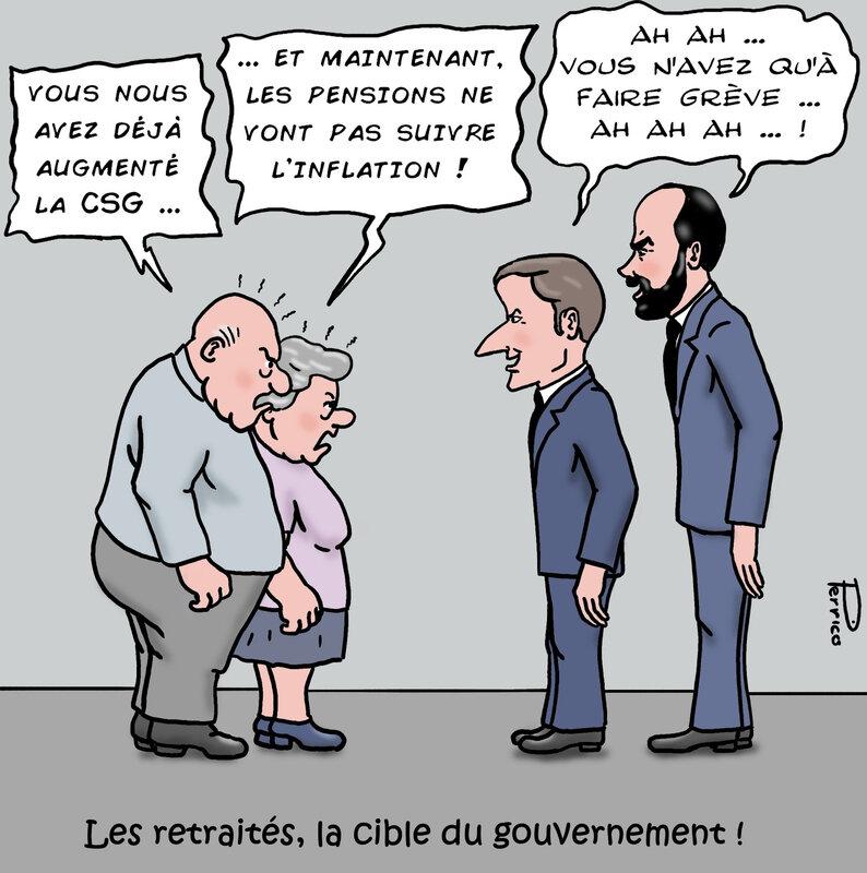 Macron et Philippe face aux retraités 26 août 2018
