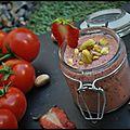 Gaspacho de tomates cerises, fraises et chèvre frais