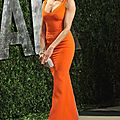 Cameron Diaz robe orange 100 2012