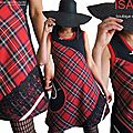 MOD-528A-robe-carreaux-écossais-rouge-tartan-noire- dentelle-resille-createur-shopping-mode-originale-isamade-made-in-france