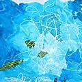 Fond marin Dégradé bleus La profondeur