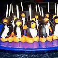 Petit pingouins en olive et oeufs en grenouille