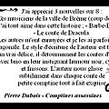 Avis : pierre dubois - comptines assassines