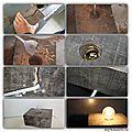 Diy déco avec une mèche à bois : une lampe industrielle et un bougeoir cosy ...