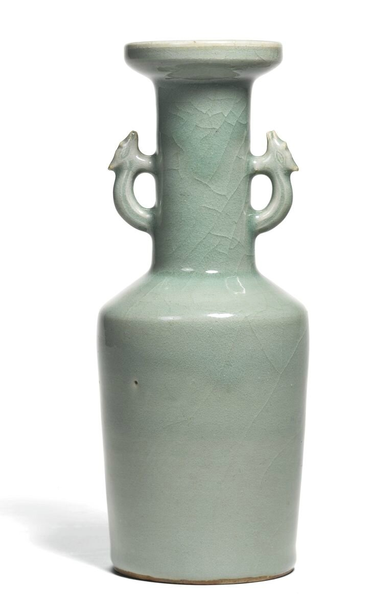 A 'Longquan' celadon mallet vase, Ming Dynasty