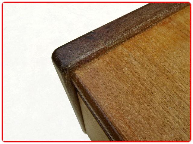 meuble de rangement bas vintage teck