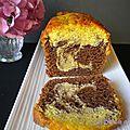 Cake marbré au chocolat façon savane